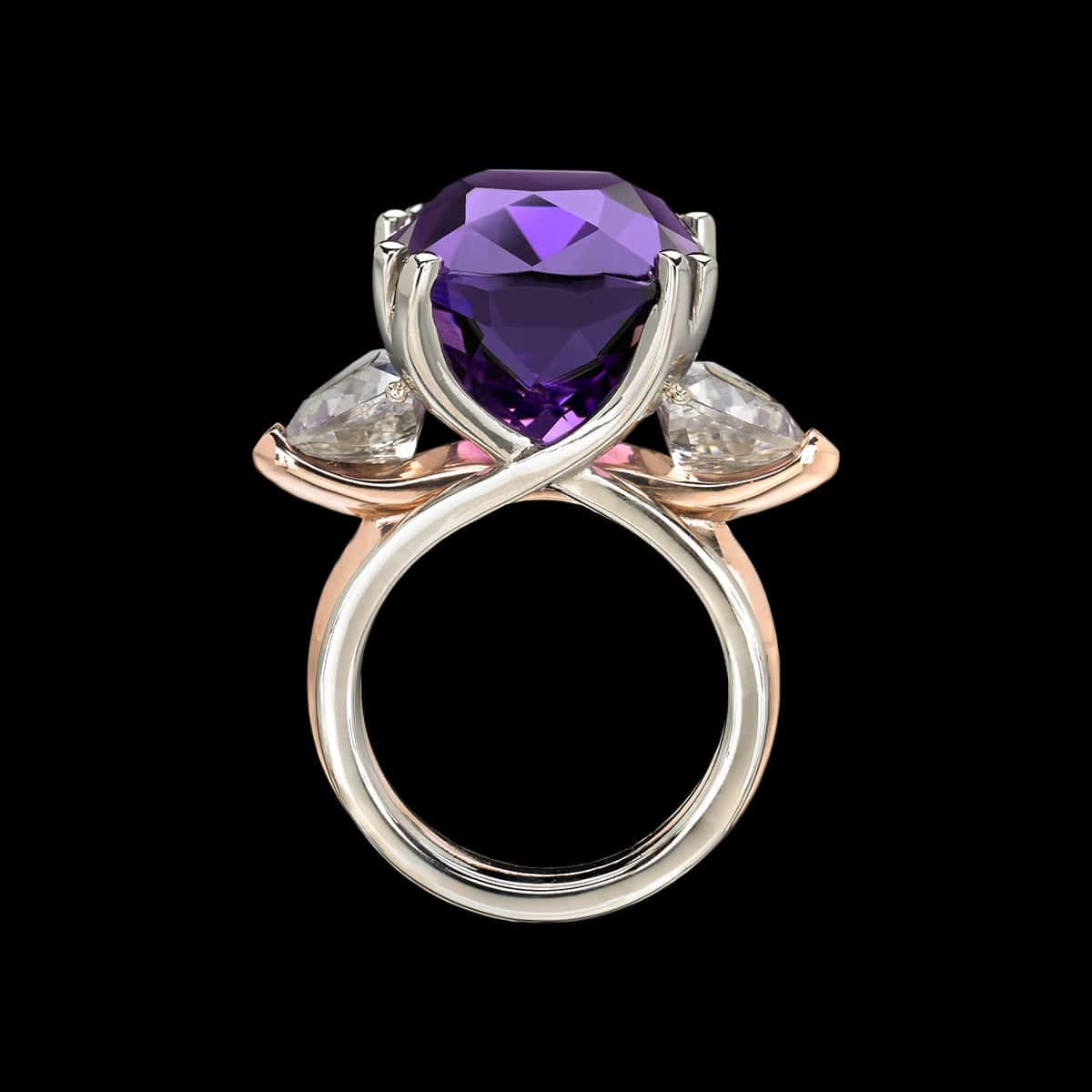 Allegre Amethyst Cocktail Ring Side