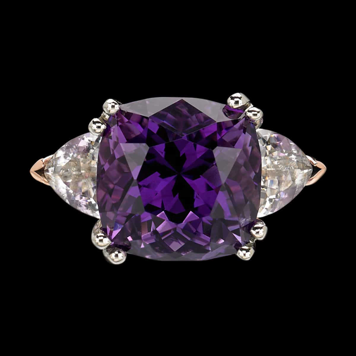 Allegre Amethyst Cocktail Ring top