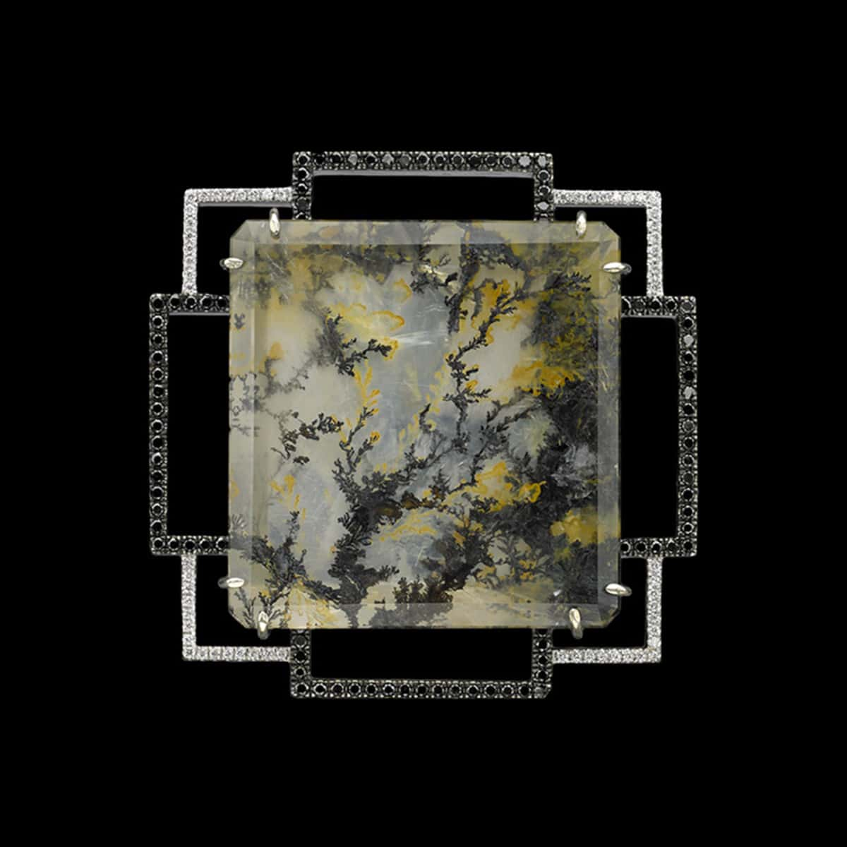 Le Jardín Pendant with Dendritic Quartz