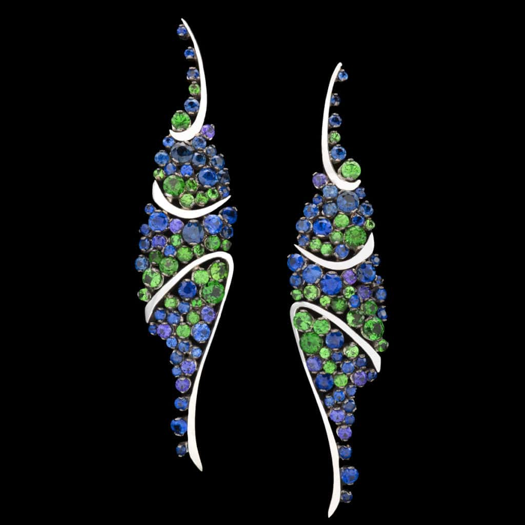 Sapphire Earrings- Pavoni - Couture Jewelry Portfolio