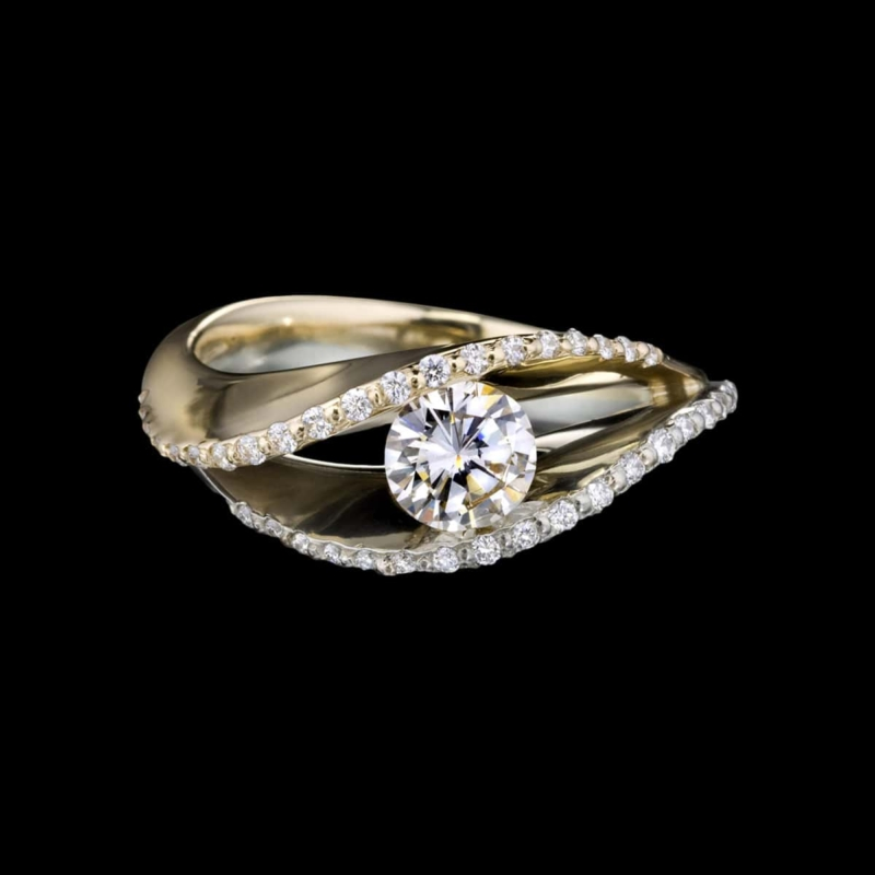Covet duo pavé diamond ring