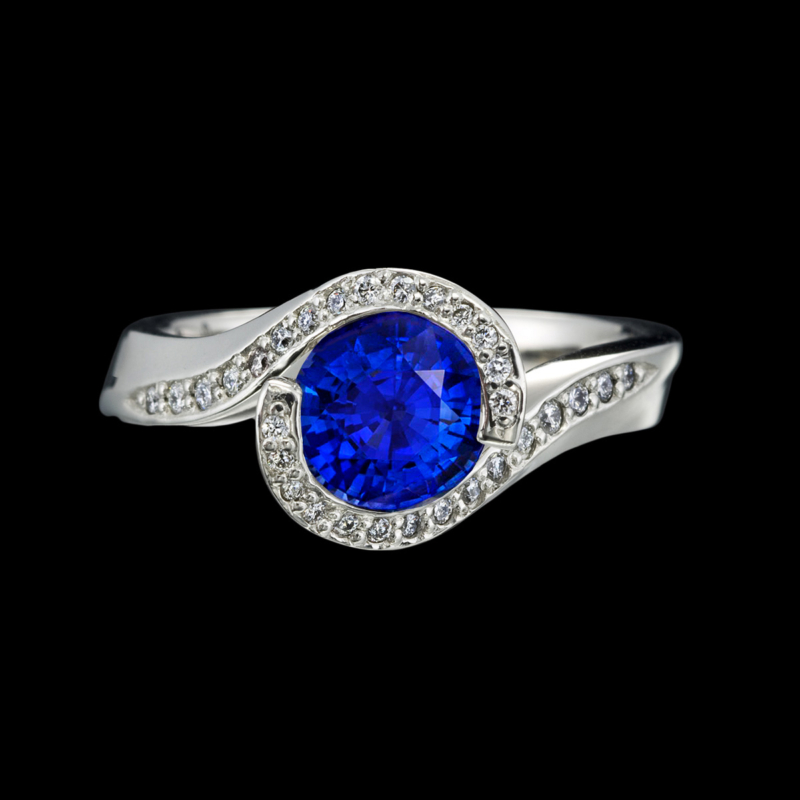 Embrace Blue Sapphire Ring