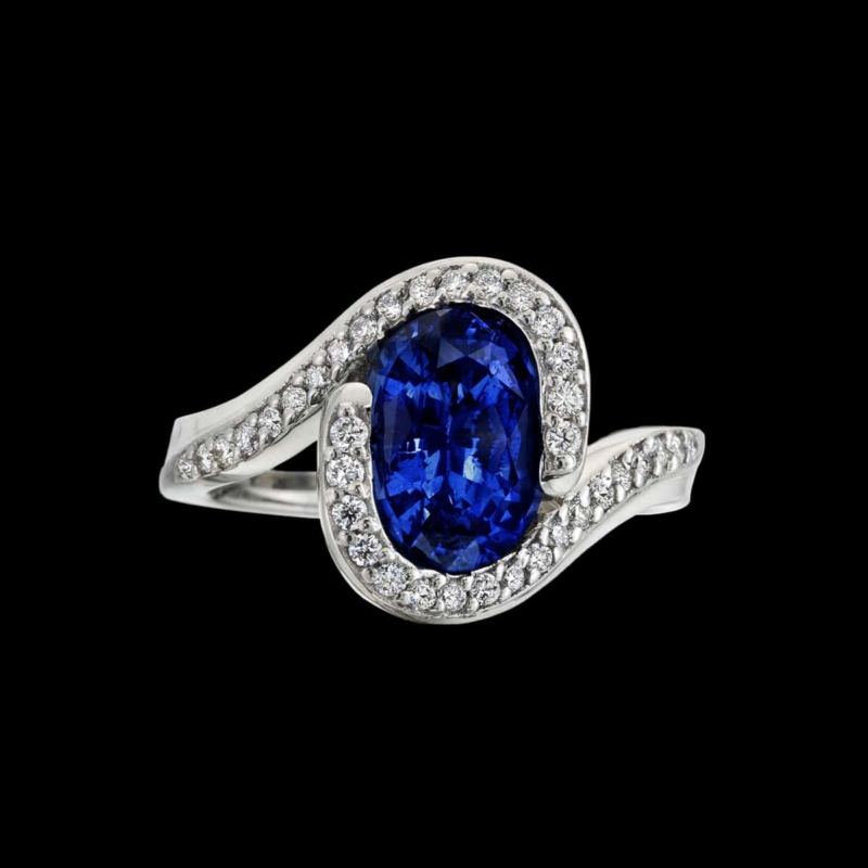 Embrace sapphire ring