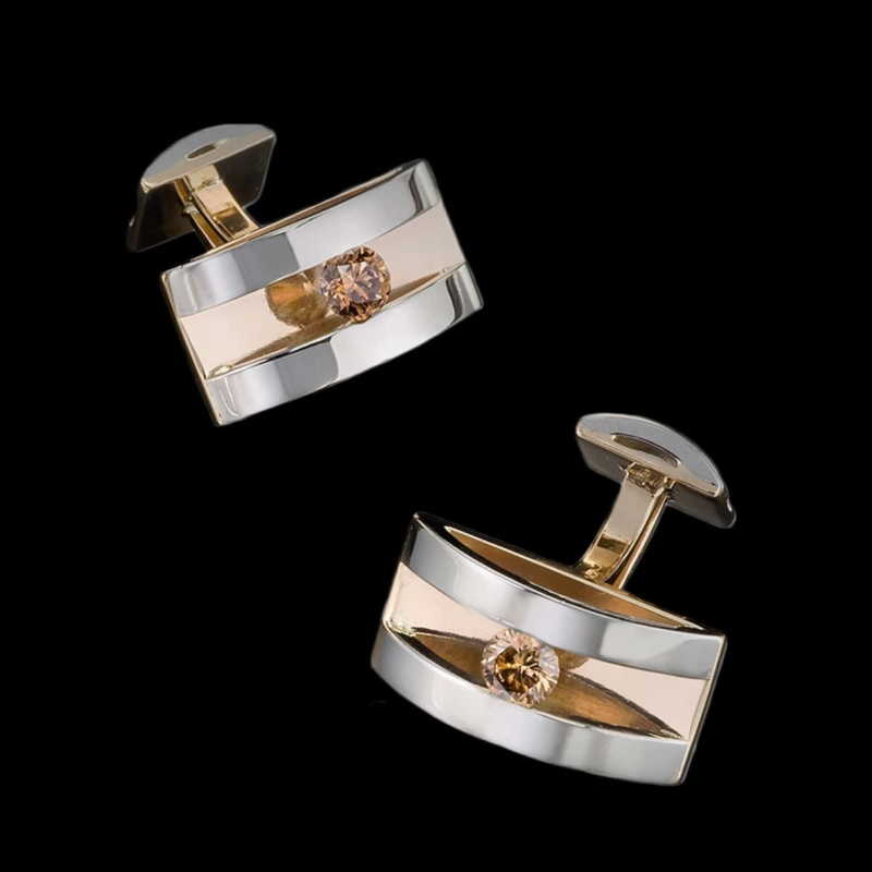 Forte Champagne Diamond Cufflinks