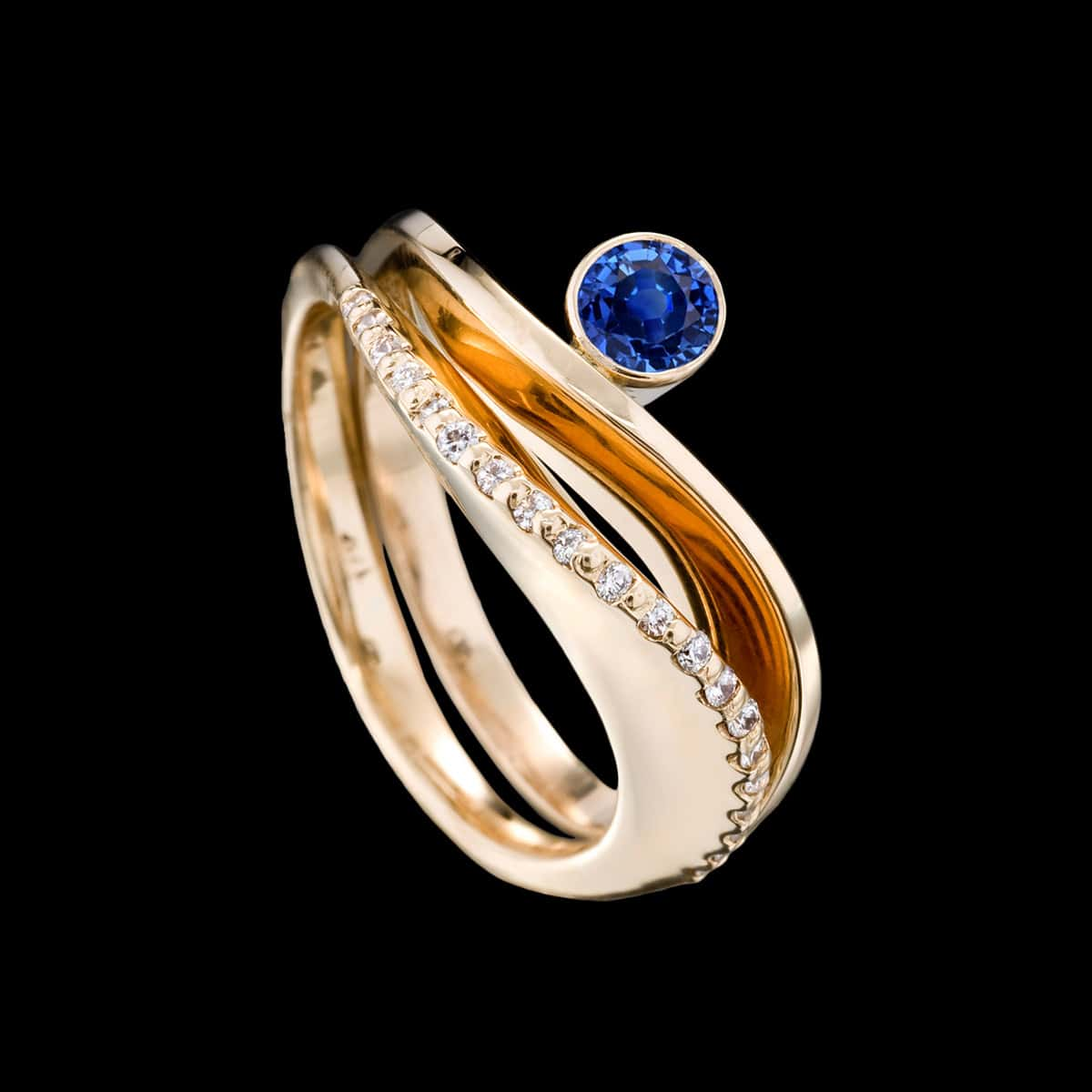 Covet and Grace Ring with Sapphire