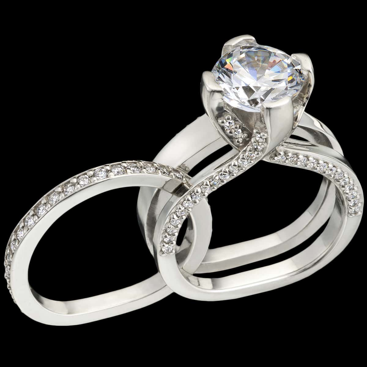 luxe diamond engagement ring expanded