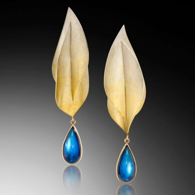 Spectra Moonstone Earrings Spectra Gold