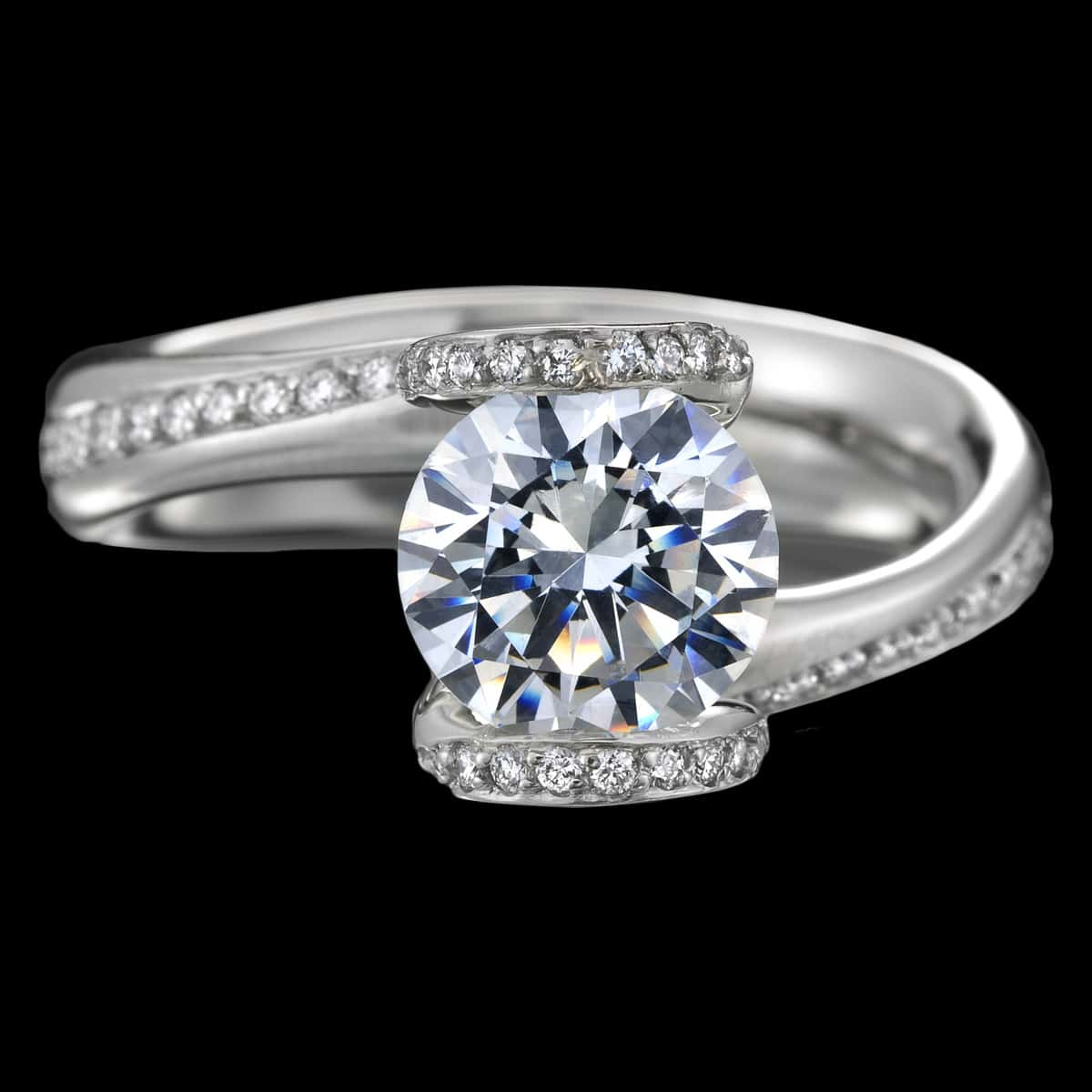 sonata diamond engagement ring top