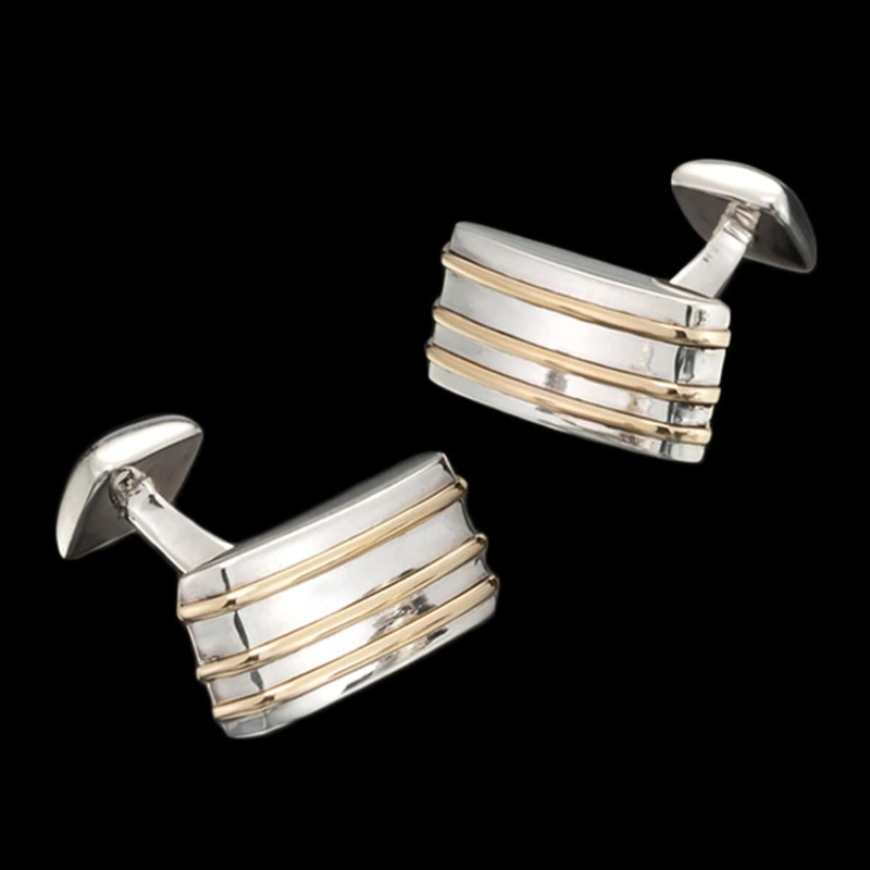 Vibe Cufflinks with Gold