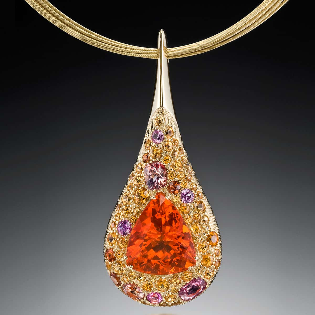 products opal dendritic pendant with fire