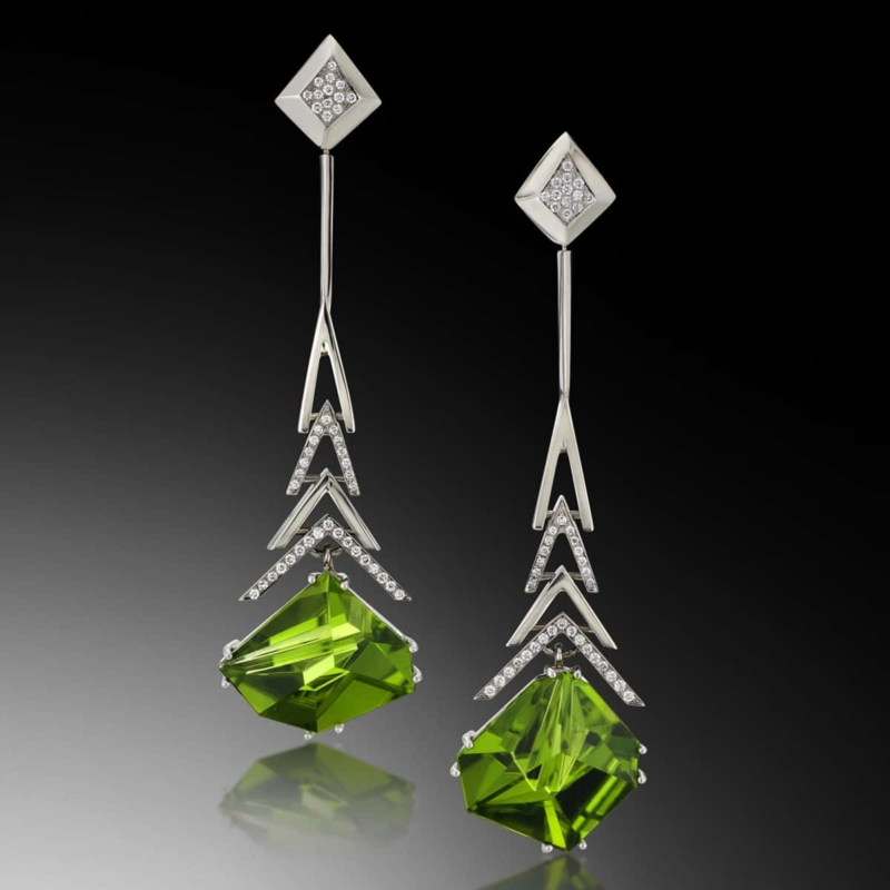 Crescendo Munsteiner Peridot Earrings