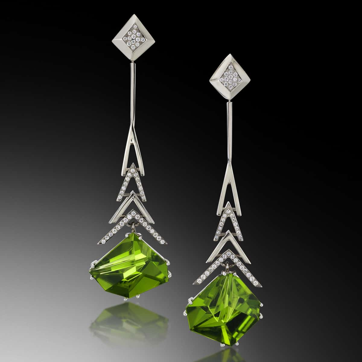Crescendo Peridot Earrings