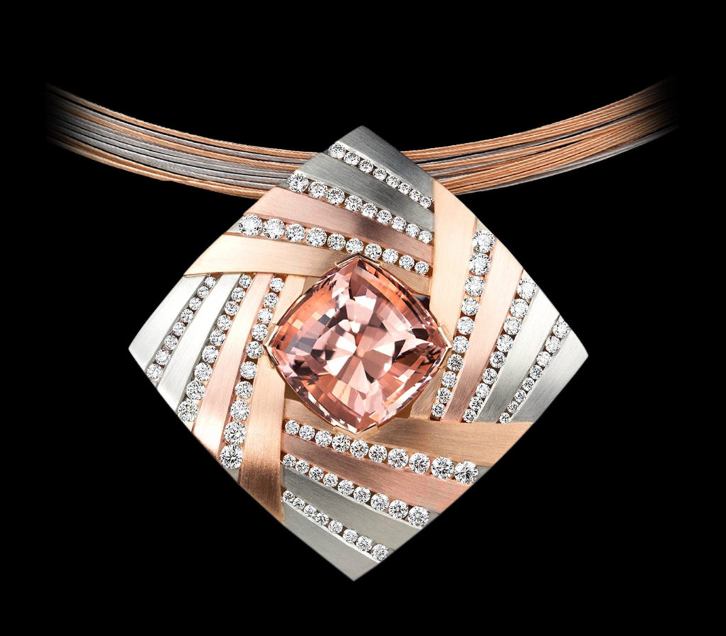 Morganite Pendant - Cosmos - Couture Jewelry Portfolio