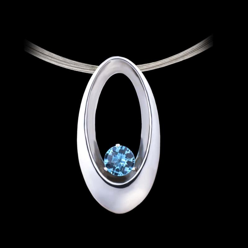 eclipse blue topaz pendant