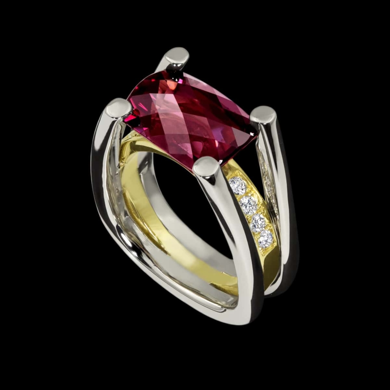Fortessa Red Garnet Ring
