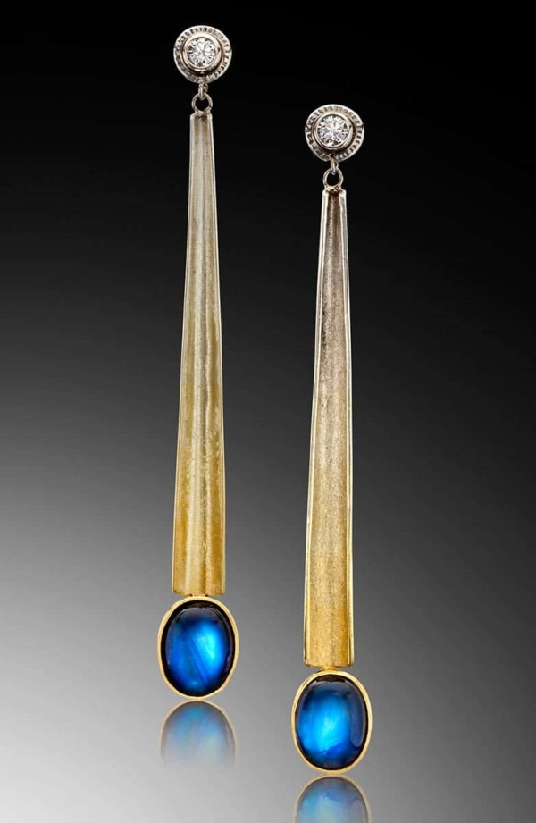 Egyptian Moonstone Earrings Spectra Gold