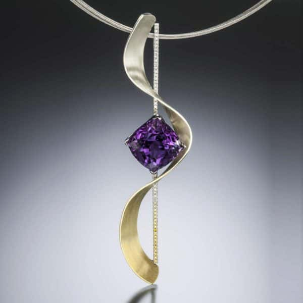 Accento Amethyst Pendant Spectra Gold
