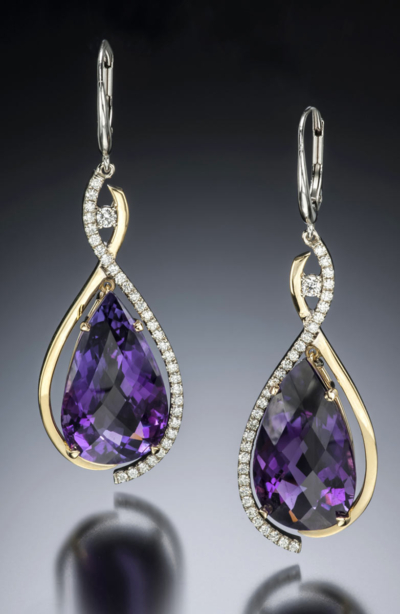 bellina amethyst earrings