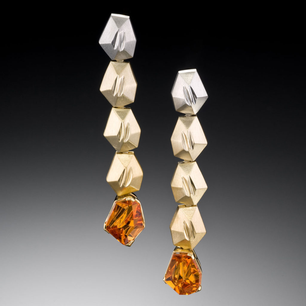 Echo Mandarin Garnet Earrings