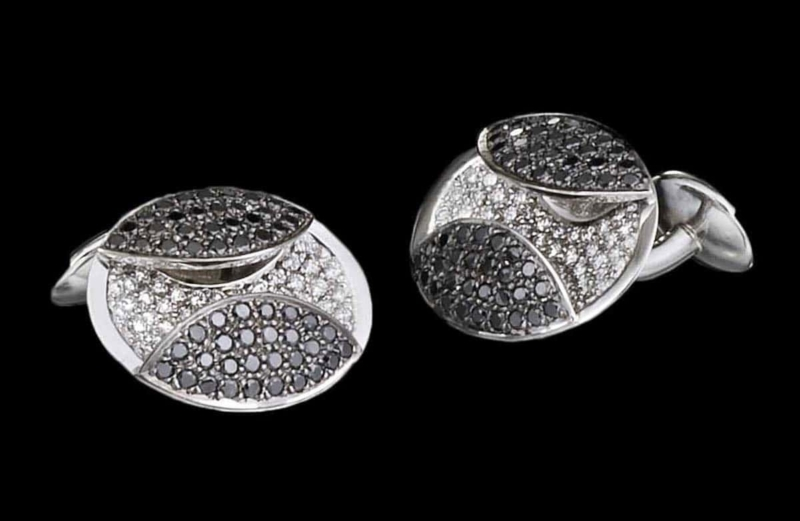 Eclipse Diamond Pave Cufflinks