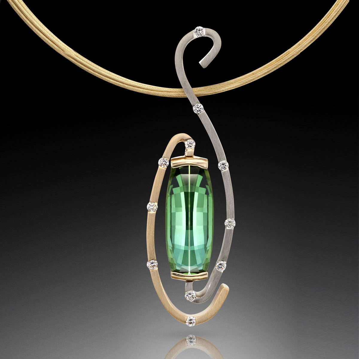 exquisite tourmaline pendant