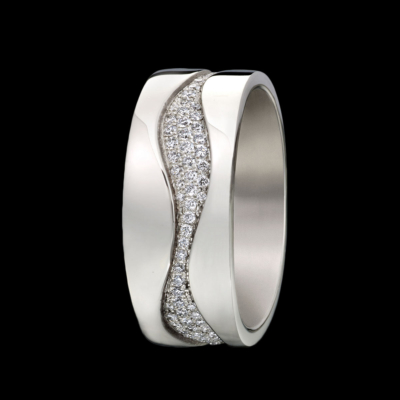 Rhythm Pave Diamond Ring