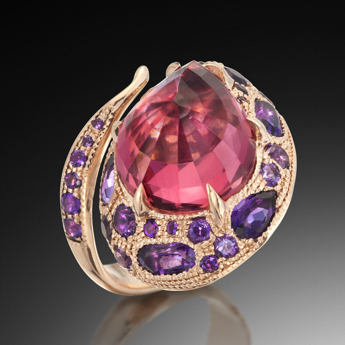 Rose Rubellite Tourmaline Ring