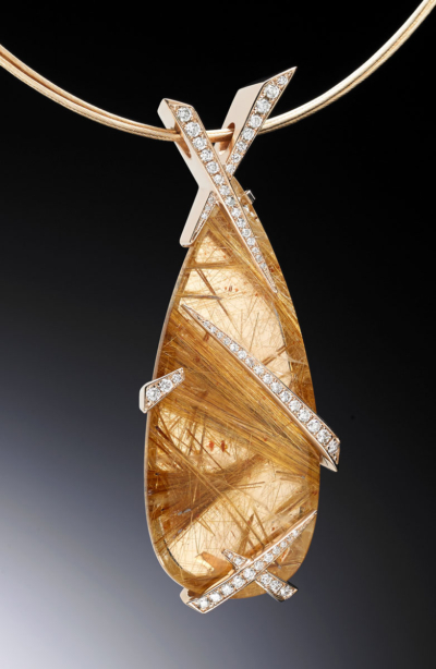 Rutile Rose Rutilated Quartz Pendant
