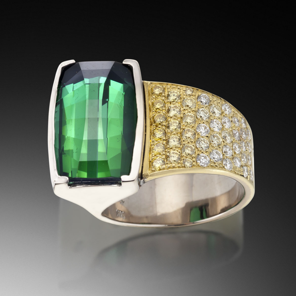 Verde Green Tourmaline Ring