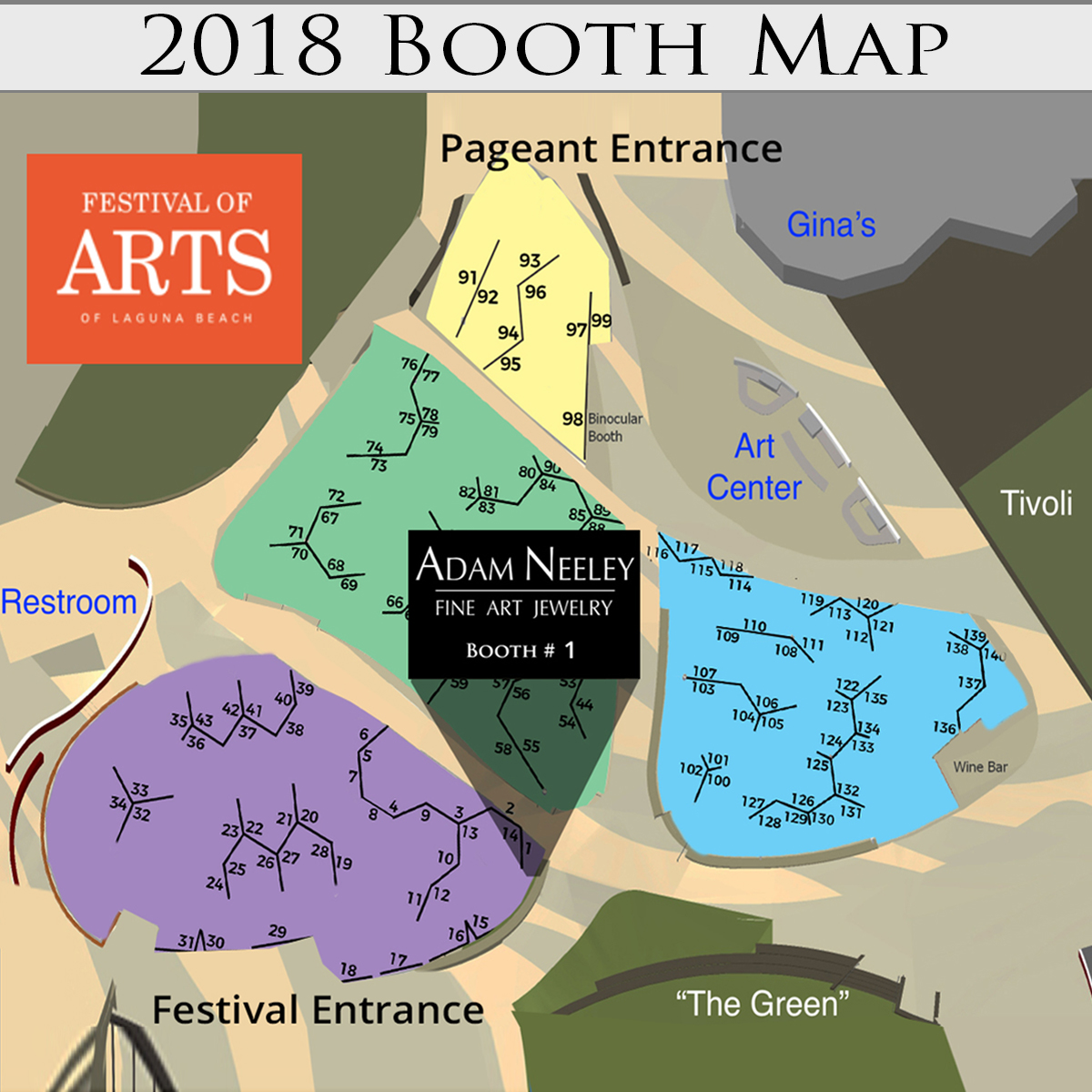 Festival of Arts Booth map