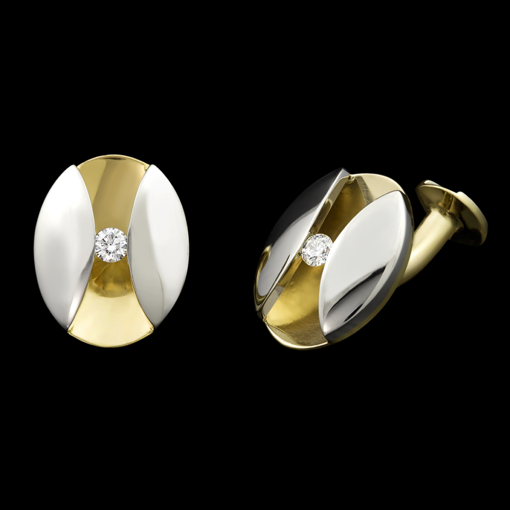 Eclipse Diamond Cufflinks