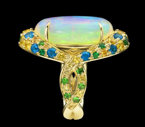 Galatea Ring ethiopian opal