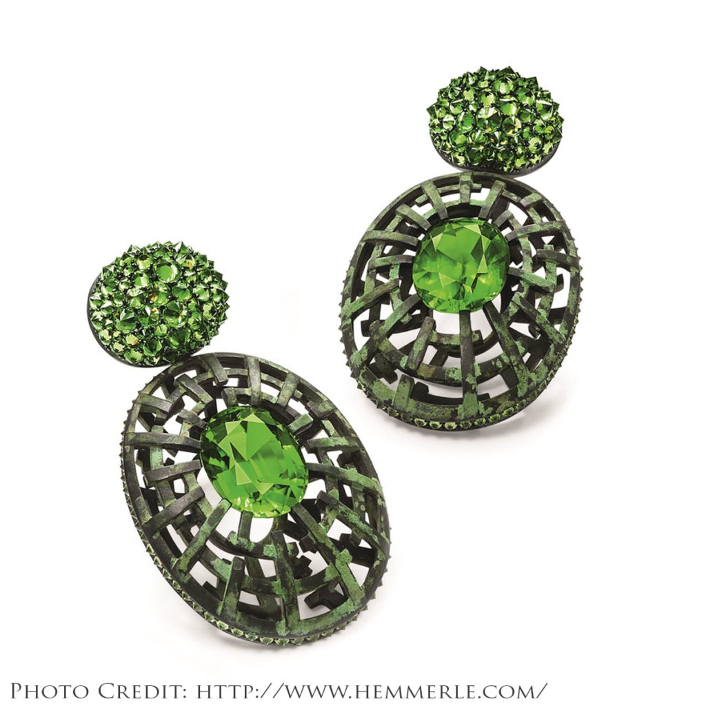 Hemmerle Green Earrings