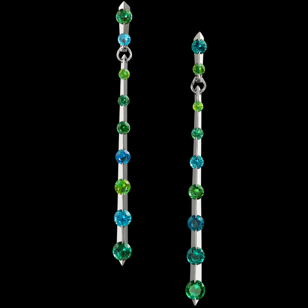 Linea Earrings Tourmaline
