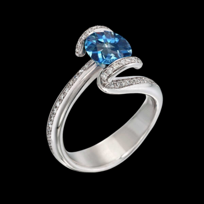 Sonata Blue Topaz Ring