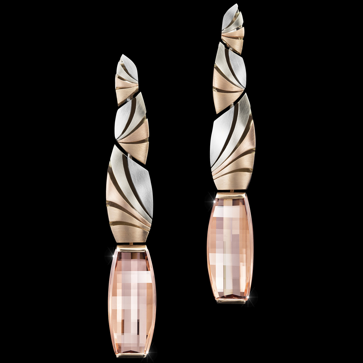cosmos earrrings morganite