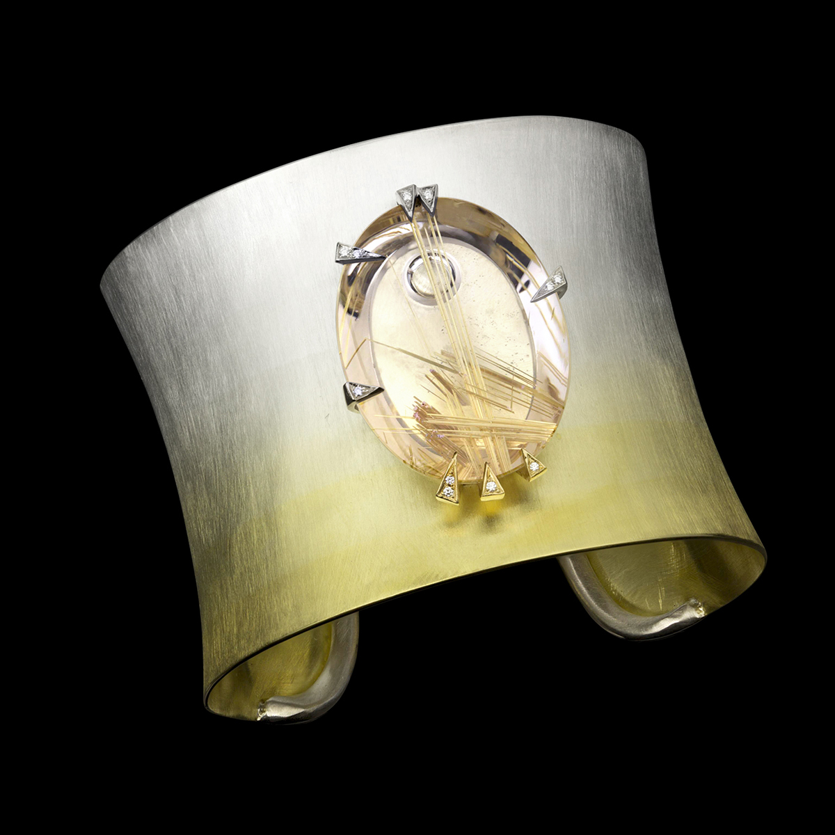 Gaia's Gift Cuff with Rutilated Quartz