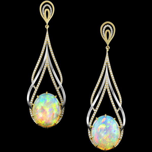 Ocellius Earrings ethiopian opal