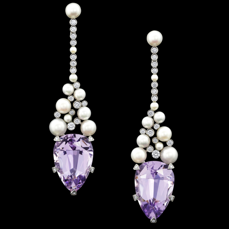 Rose de France Amethyst Earrings