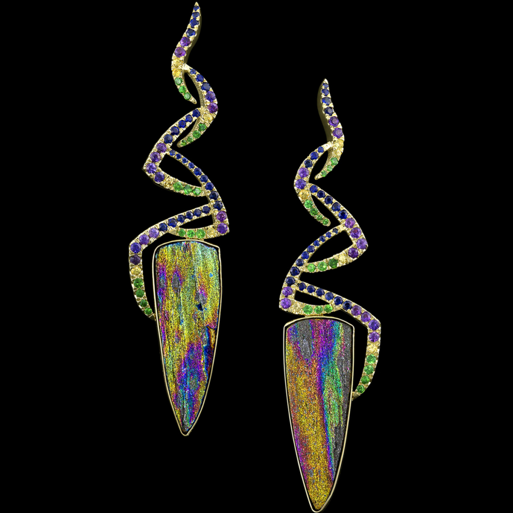Spectre Earrings Hematite