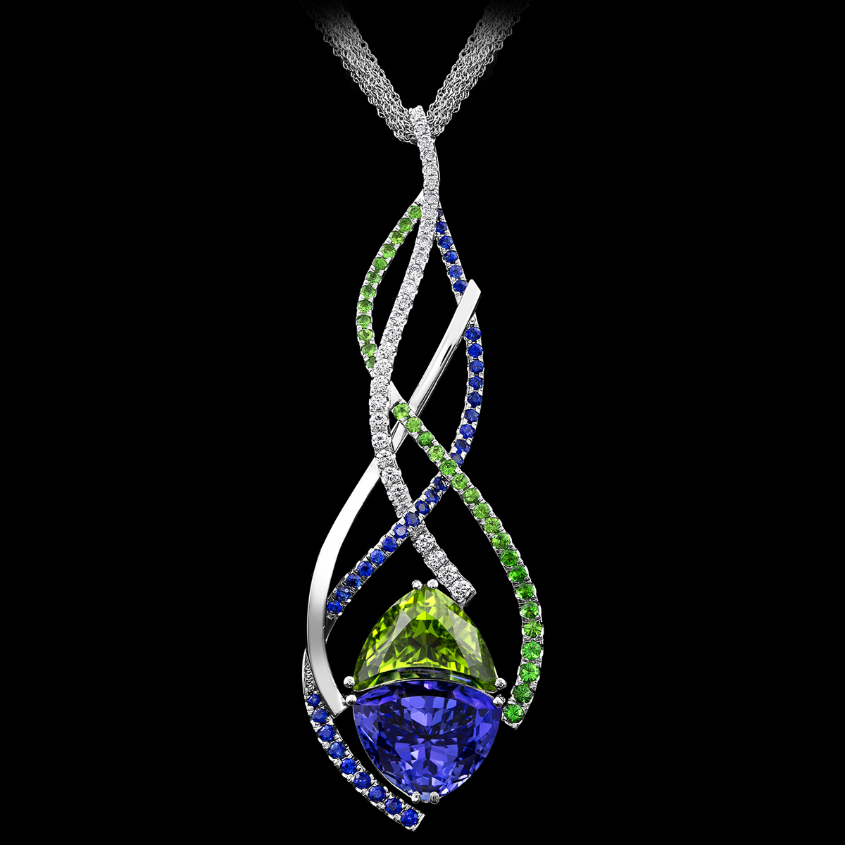 Stephen Avery Gemstone Jewelry Majestic Tanzanite and Peridot Pendant