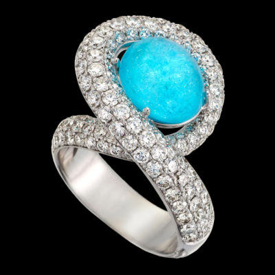 rare gemstone jewelry Paraiba Tourmaline Aria Ring