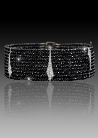 le chic black diamond bracelet