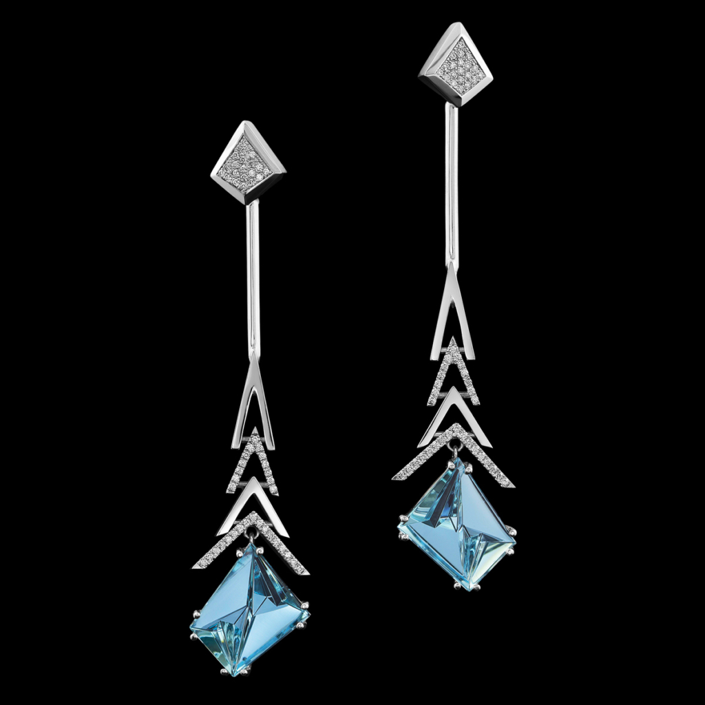 aquamarine earrings crescendo