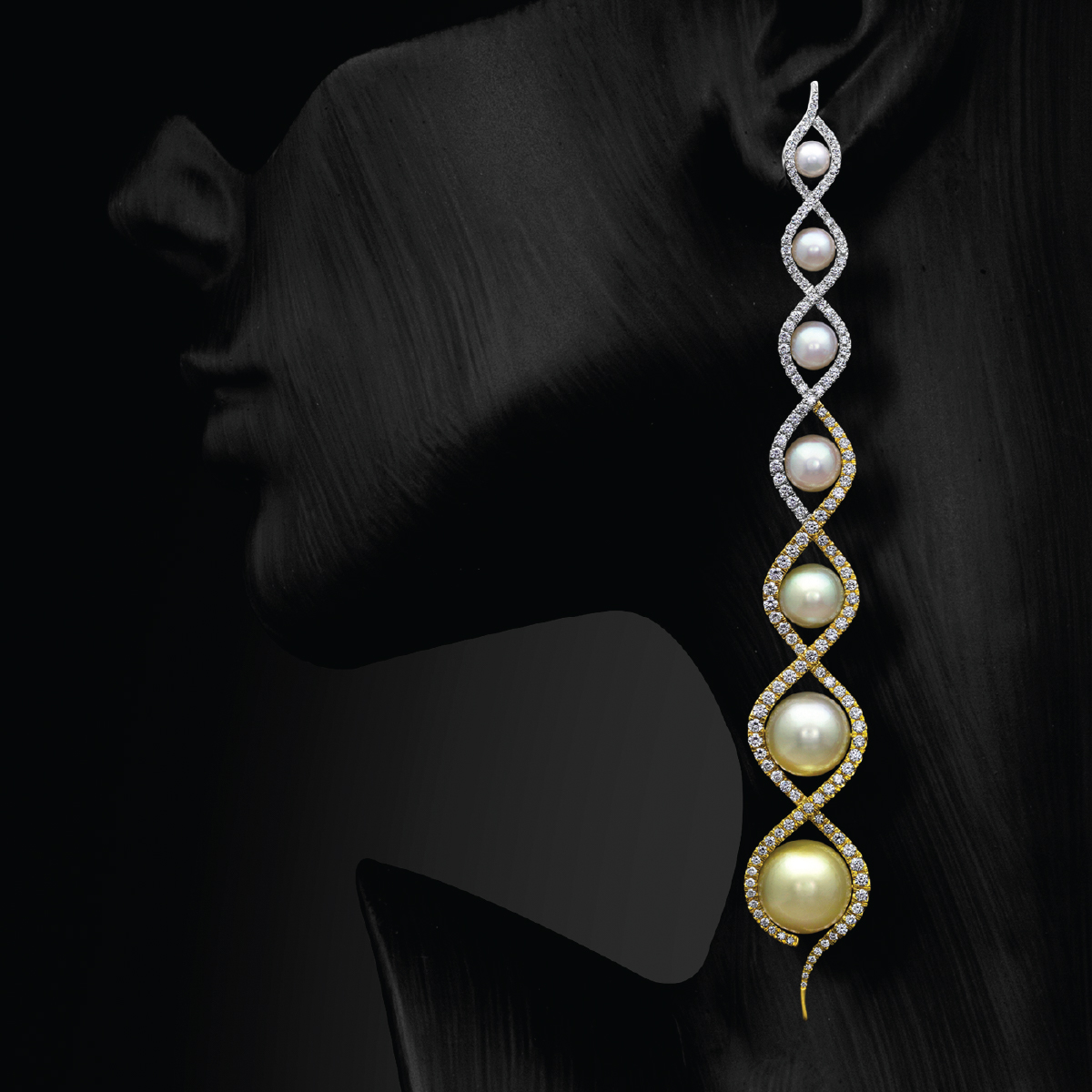 Rivoli Earrings Worn