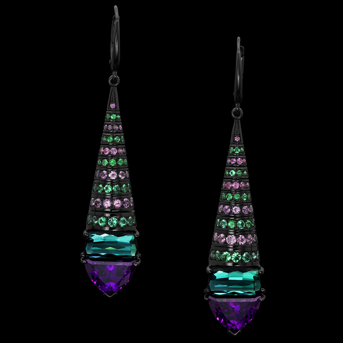 Pavoni Lilac Sapphire Earrings