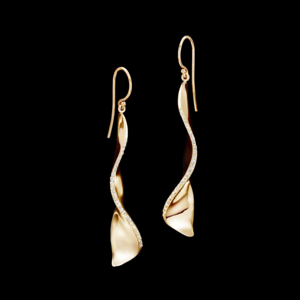 Covet Petit Diamond Earrings in Yellow Gold