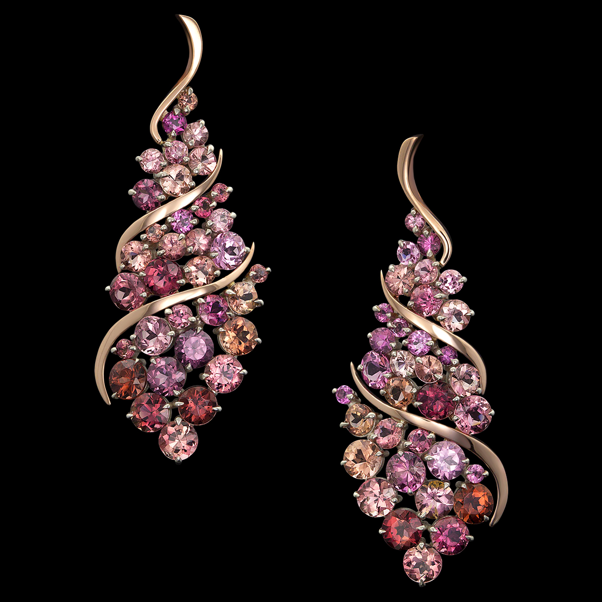 Cuvée Pink Tourmaline Earrings