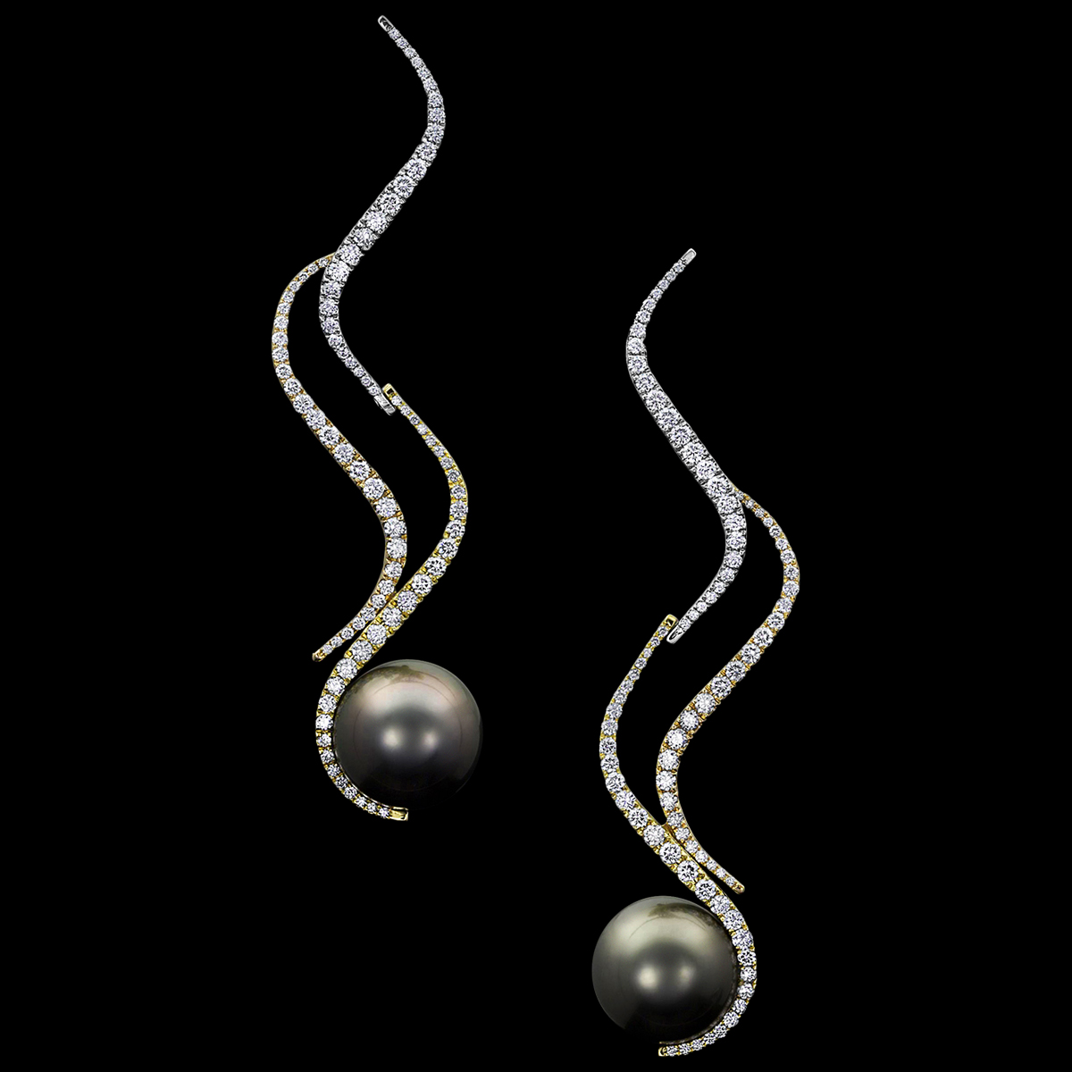 Delphi Tahitian Pearl Earrings
