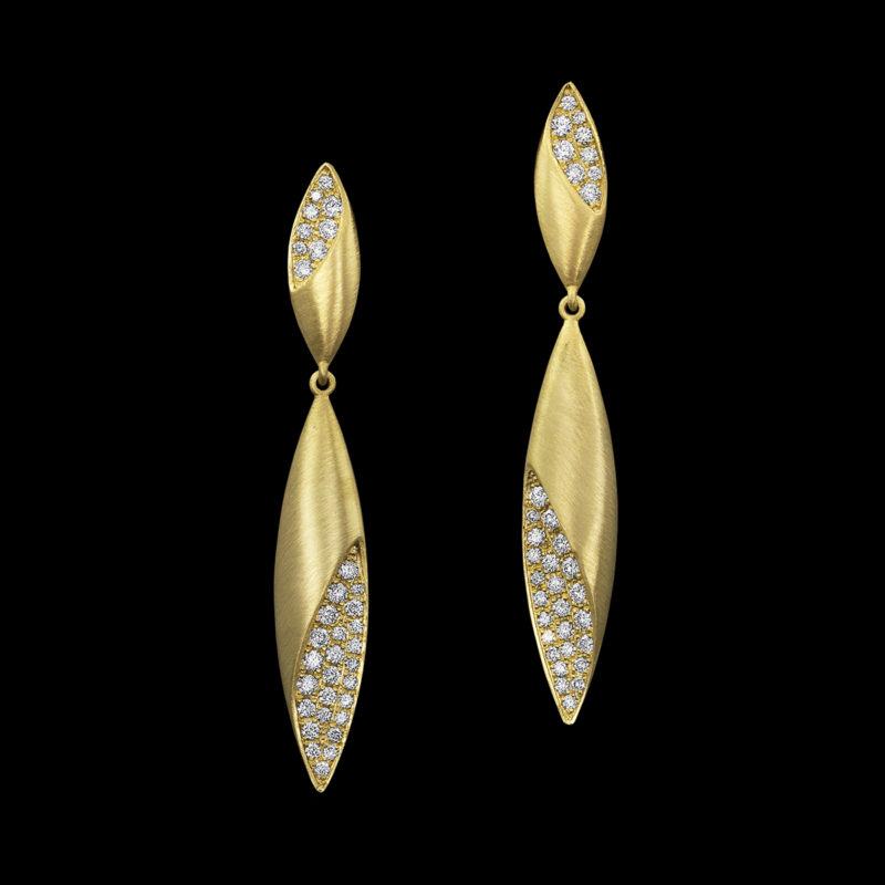 Dune Earrings Yellow Gold